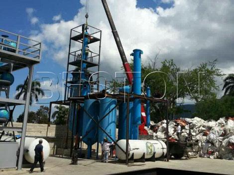 plastic to fuel conversion machine